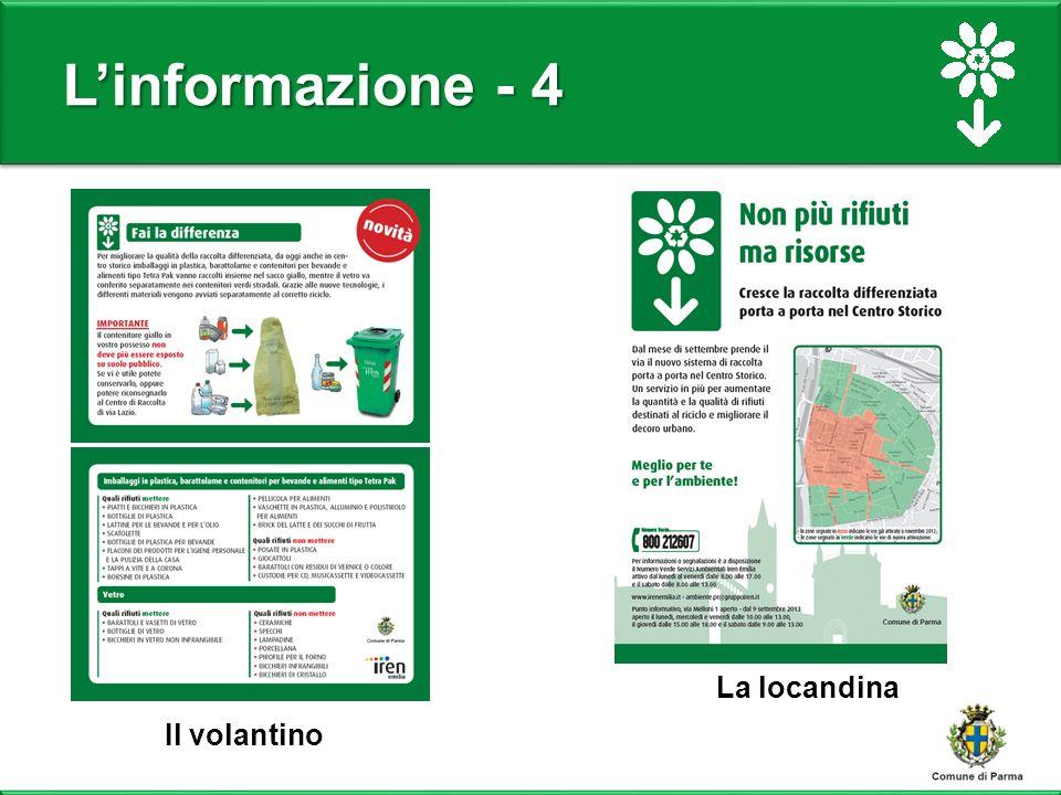L'informazione - 4 La locandina Il volantino