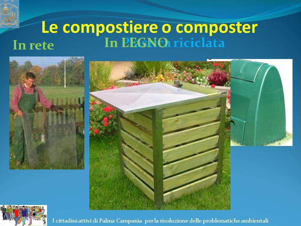 Le compostiere o composter In rete In Plastica riciclataIn LEGNO