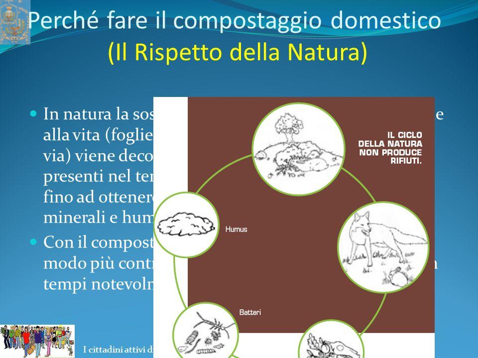 I cittadini attivi di Palma Campania per la risoluzione delle problematiche ambientali Perché fare il compostaggio domestico (Il Rispetto della Natura) Se facciamo una passeggiata nel bosco in autunno inoltrato.