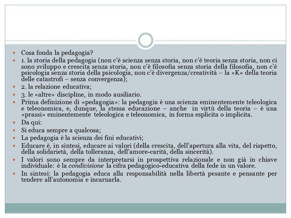 Cosa fonda la pedagogia. 1.