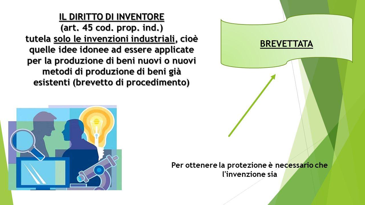 IL DIRITTO DI INVENTORE (art. 45 cod. prop.