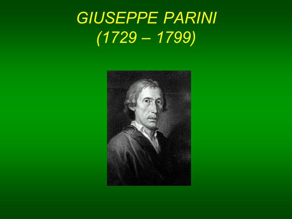 GIUSEPPE PARINI (1729 – 1799)