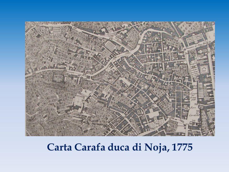 Carta Carafa duca di Noja, 1775