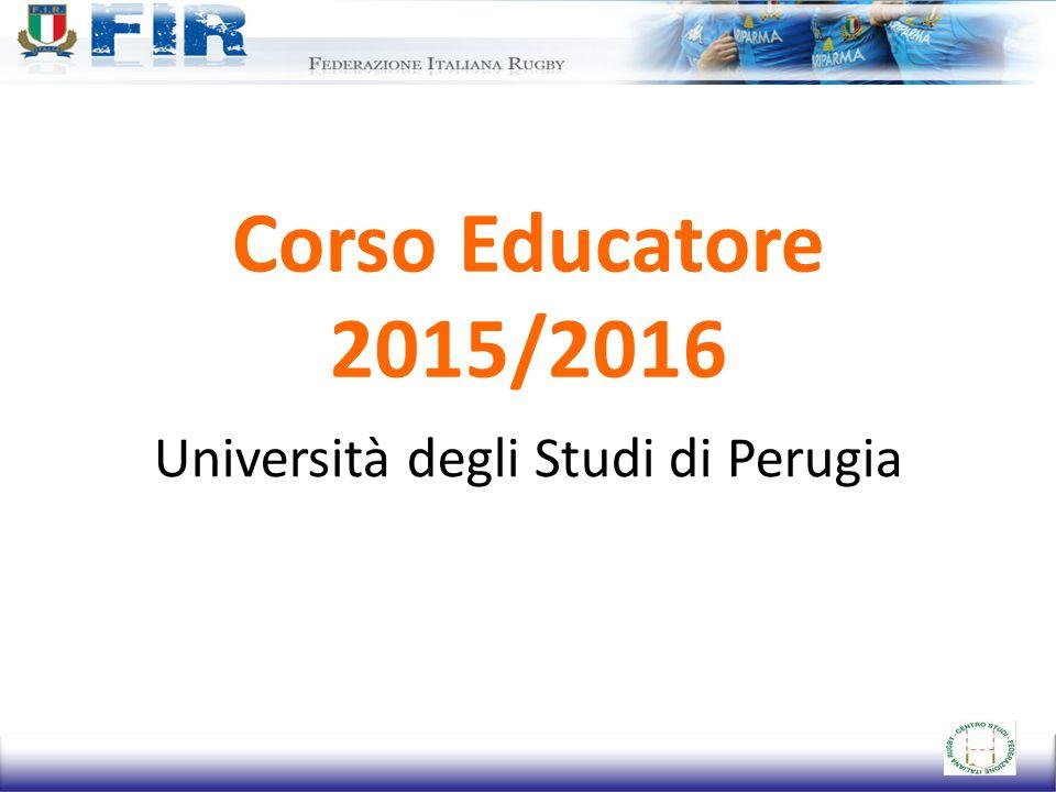 Corso Educatore 2015/2016 Università degli Studi di Perugia