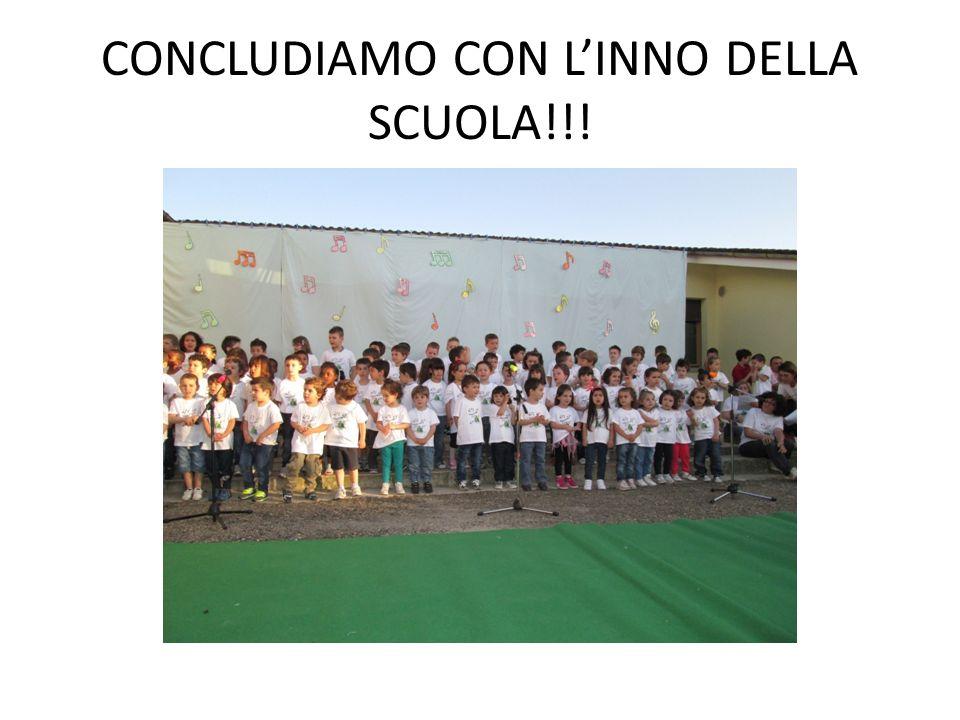CONCLUDIAMO CON L'INNO DELLA SCUOLA!!!