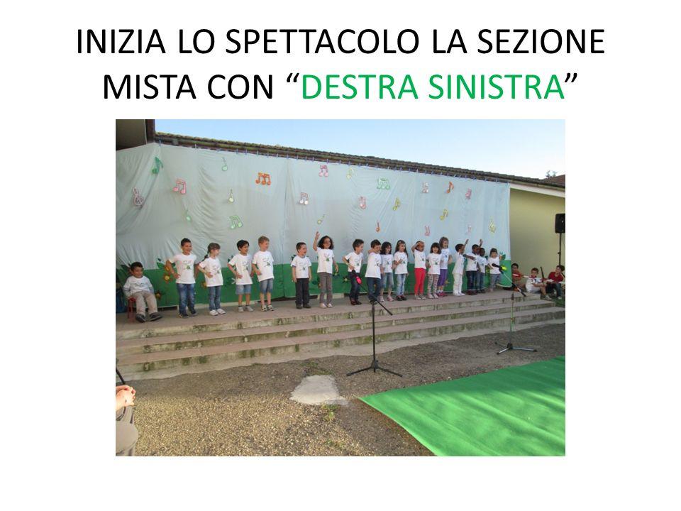 INIZIA LO SPETTACOLO LA SEZIONE MISTA CON DESTRA SINISTRA