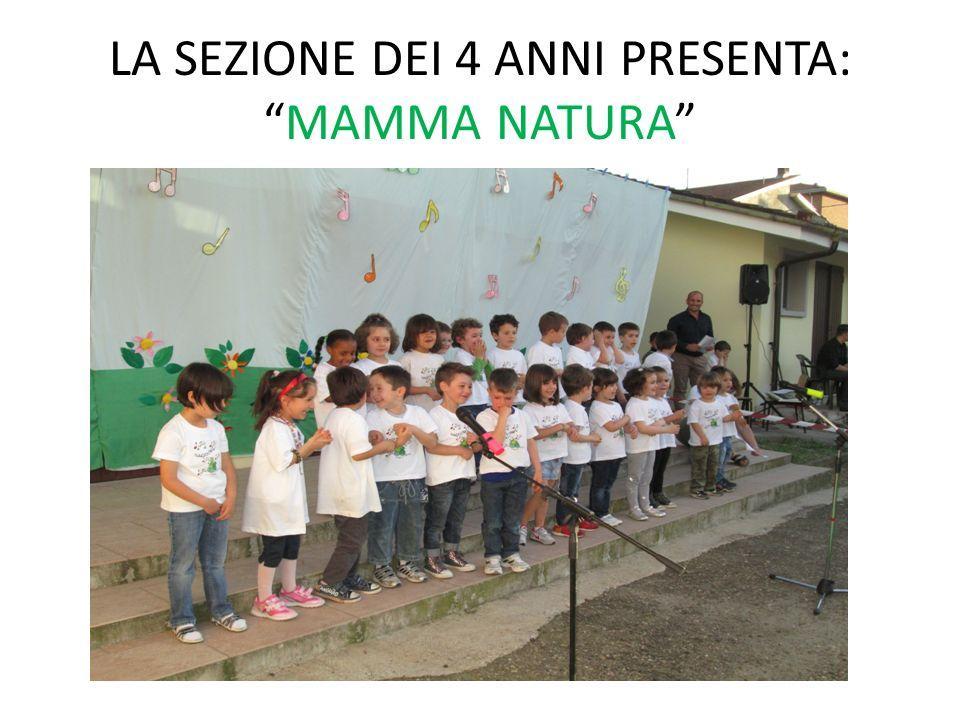 LA SEZIONE DEI 4 ANNI PRESENTA: MAMMA NATURA