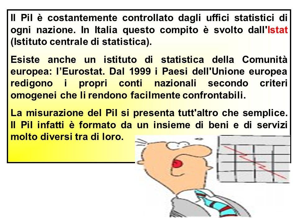 Il PiI è costantemente controllato dagli uffici statistici di ogni nazione.