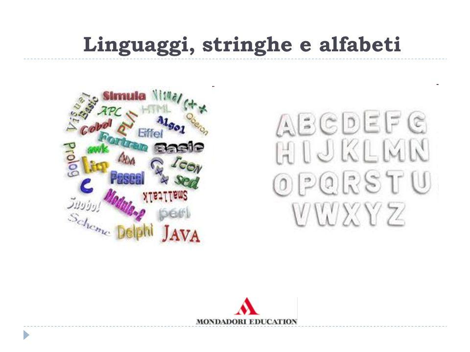 Linguaggi, stringhe e alfabeti