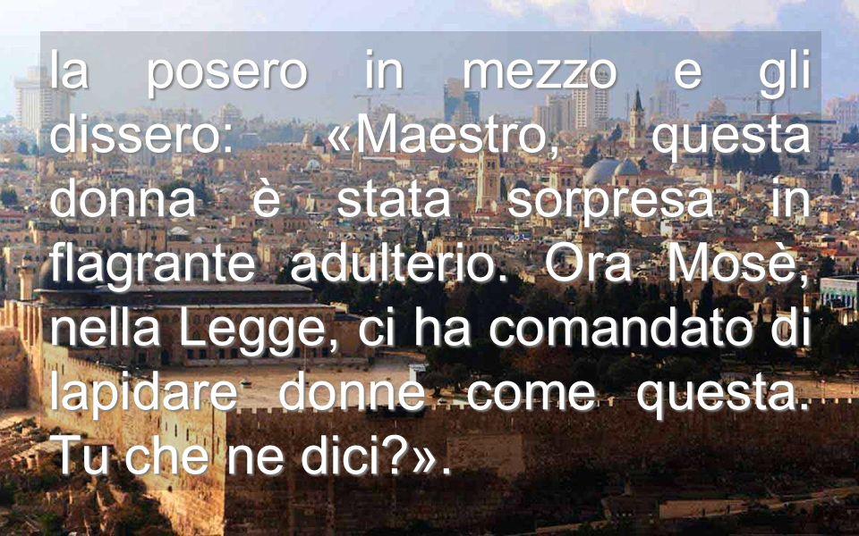 La donna, mille volte violentata, è presentata a Gesù Gli accusatori di turno, con o senza ragione, sempre condannano Dipinto di Rocco Marconi, XVI sec.