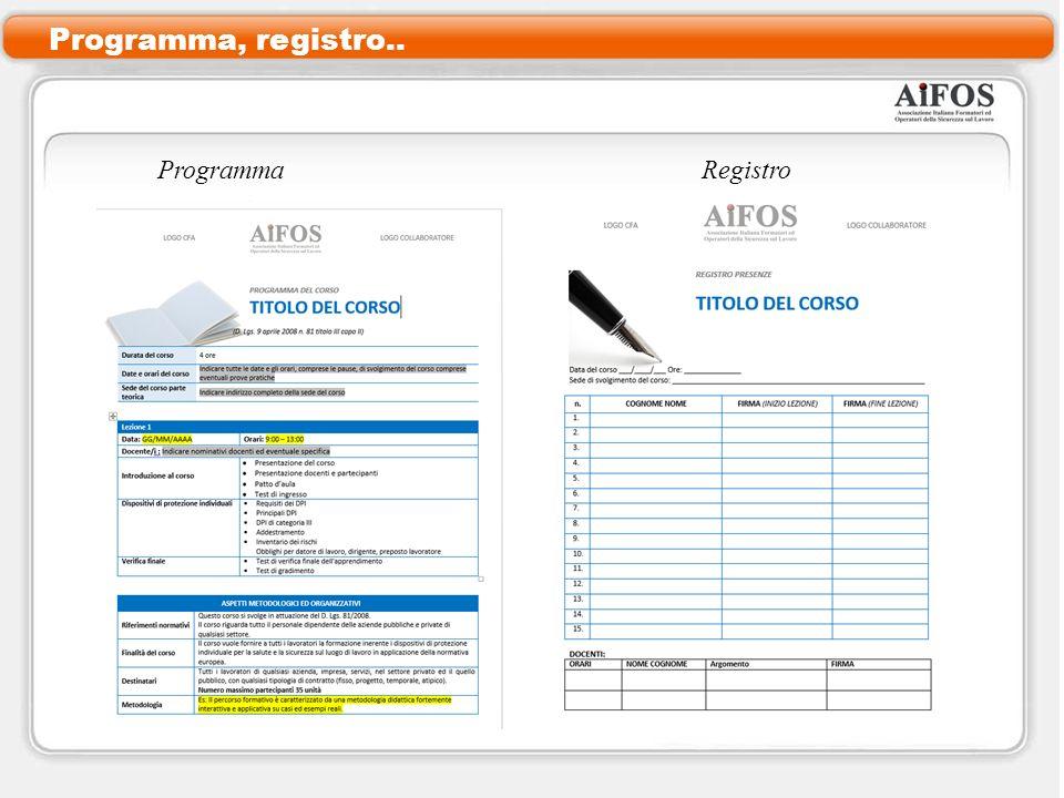Programma, registro.. ProgrammaRegistro