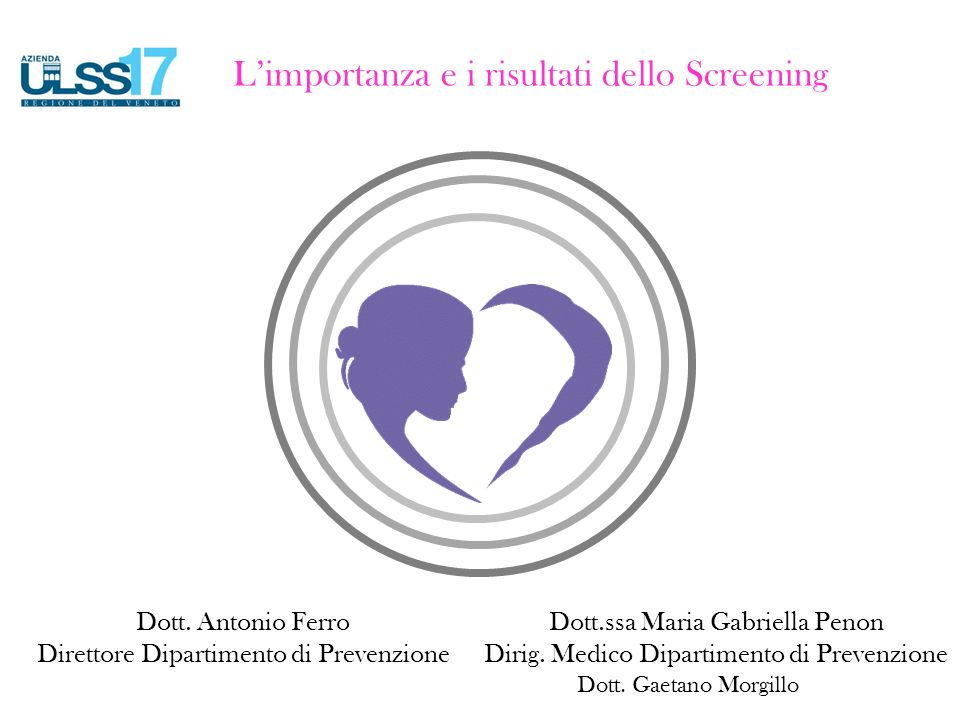 L'importanza e i risultati dello Screening Dott.ssa Maria Gabriella Penon Dirig.
