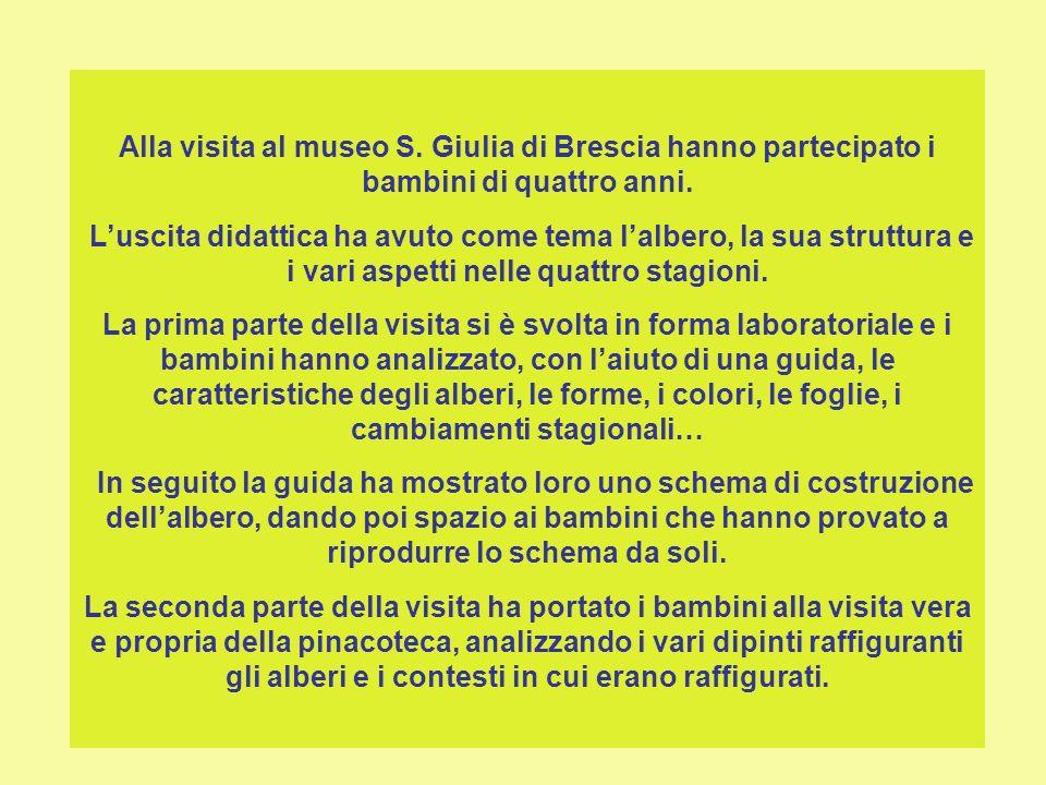 Alla visita al museo S. Giulia di Brescia hanno partecipato i bambini di quattro anni.