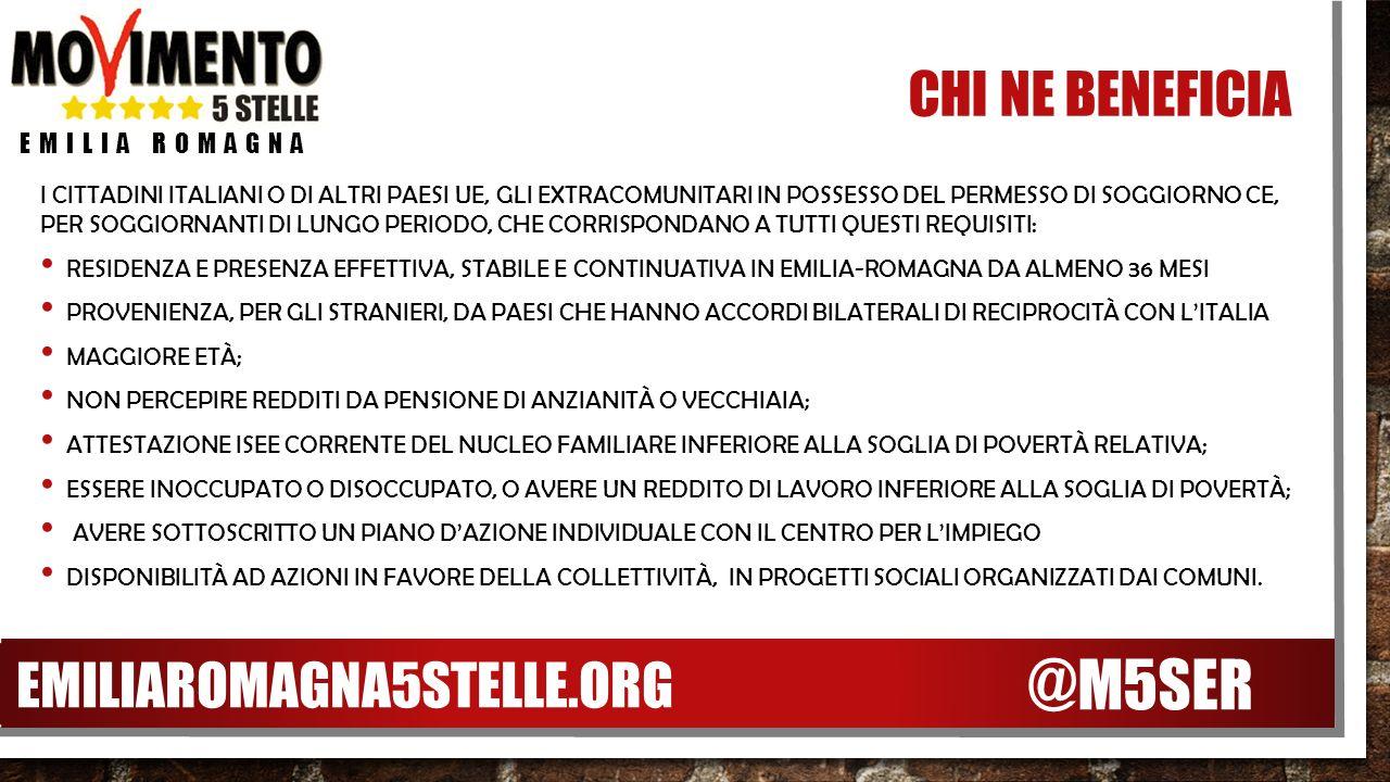 EMILIA ROMAGNA 5 STELLE REDDITO DI CITTADINANZA NESSUNO DEVE ...
