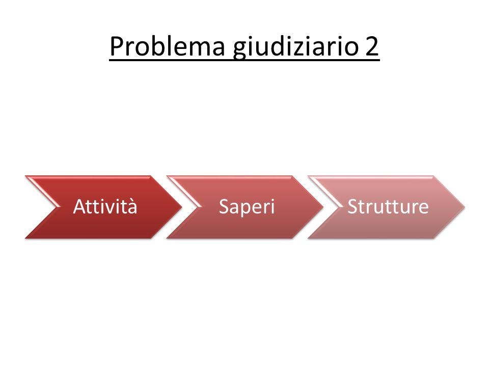 Problema giudiziario 2 AttivitàSaperiStrutture