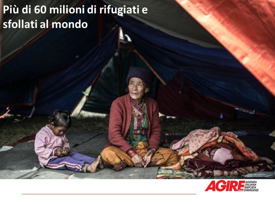 Più di 60 milioni di rifugiati e sfollati al mondo