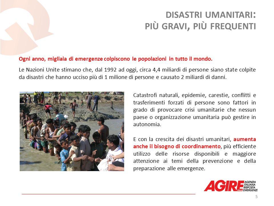 Ogni anno, migliaia di emergenze colpiscono le popolazioni in tutto il mondo.