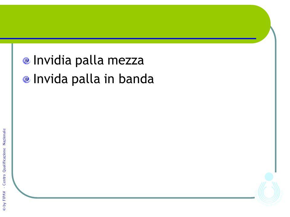 © by FIPAV - Centro Qualificazione Nazionale Invidia palla mezza Invida palla in banda