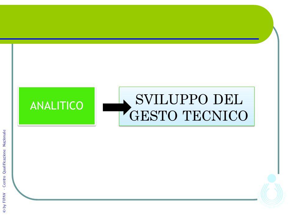 © by FIPAV - Centro Qualificazione Nazionale ANALITICO SVILUPPO DEL GESTO TECNICO 4