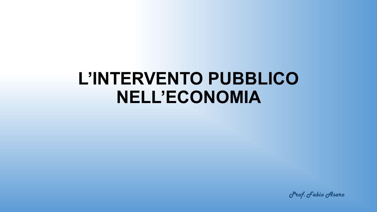L'INTERVENTO PUBBLICO NELL'ECONOMIA Prof. Fabio Asaro