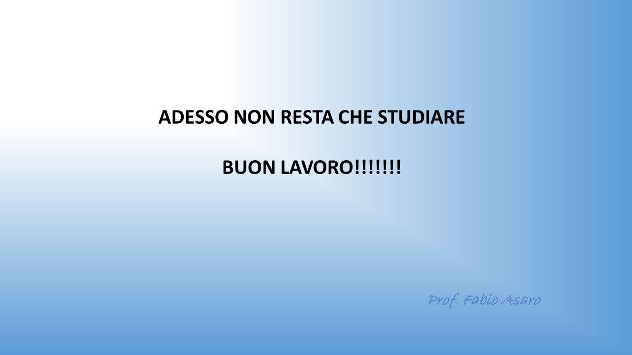 ADESSO NON RESTA CHE STUDIARE BUON LAVORO!!!!!!!