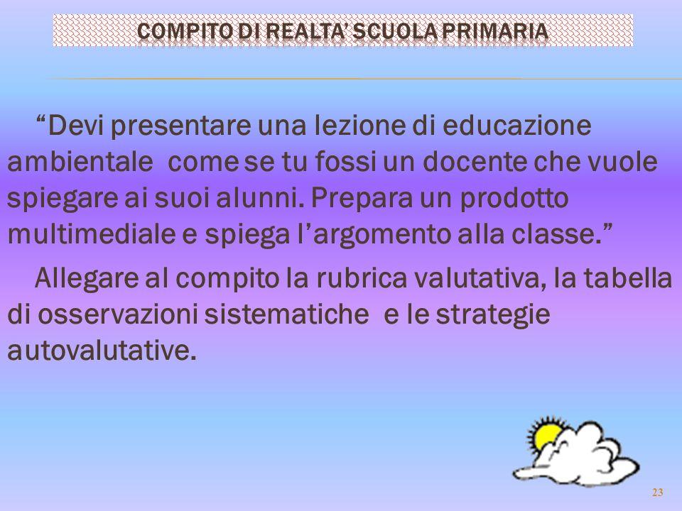 Devi presentare una lezione di educazione ambientale come se tu fossi un docente che vuole spiegare ai suoi alunni.
