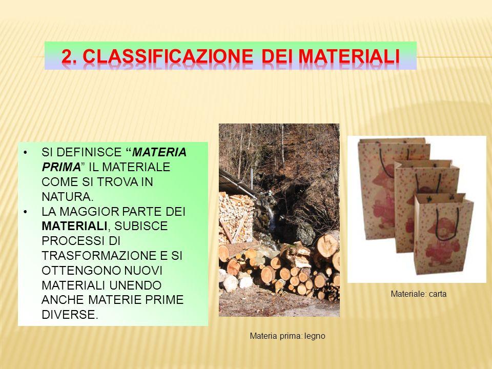 Quando si deve produrre un oggetto è necessario decidere quale sia il materiale migliore per realizzarlo La scelta può avvenire tra i materiali nuovi o tra i materiali che già conosciamo.