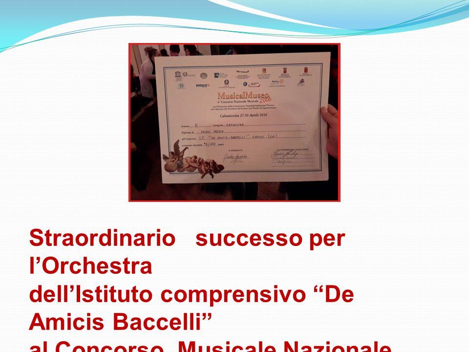 Straordinario successo per l'Orchestra dell'Istituto comprensivo De Amicis Baccelli al Concorso Musicale Nazionale MUSICAL MUSEO di Caltanissetta