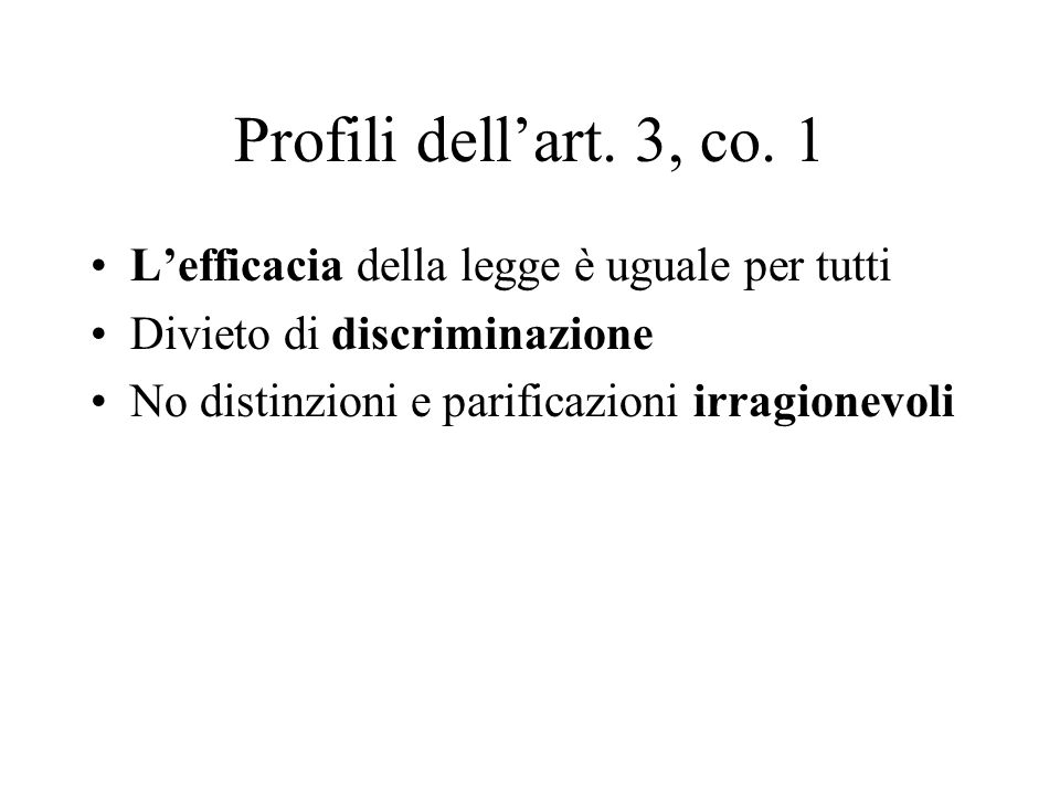 Profili dell'art. 3, co.