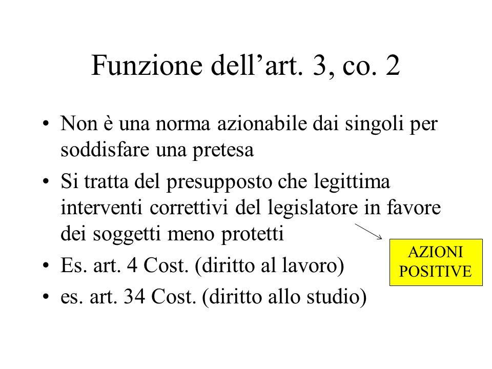 Funzione dell'art. 3, co.