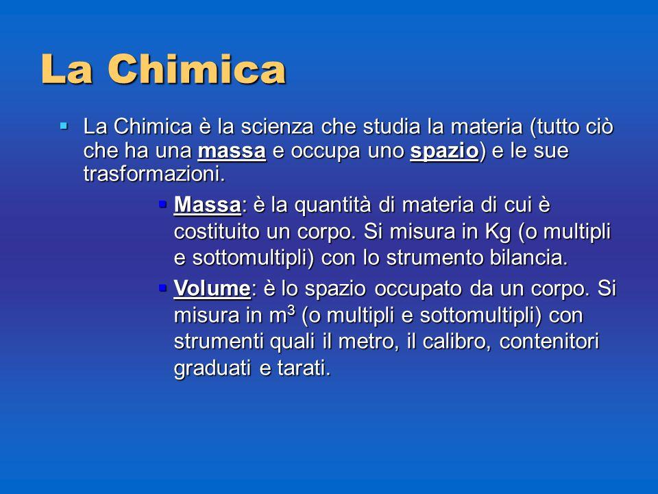 Chimica Introduzione alla Chimica massa, volume, densità massa, volume, densità Prof. Romina Papa