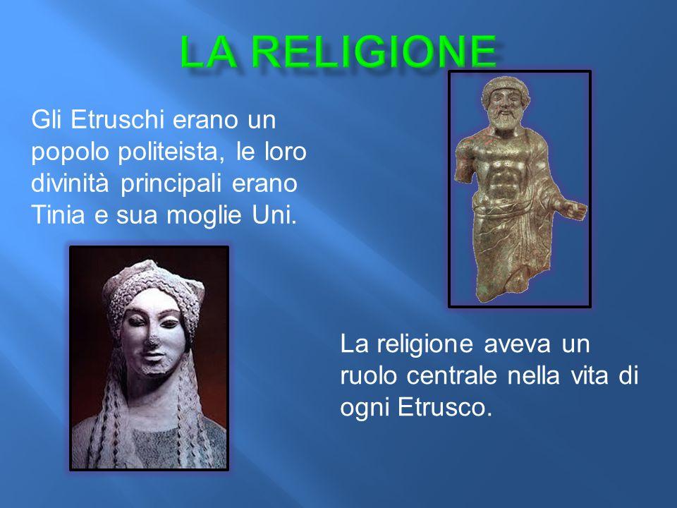 La religione aveva un ruolo centrale nella vita di ogni Etrusco.