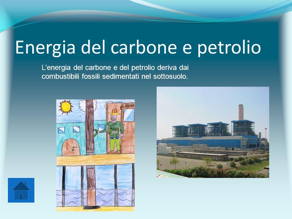 Energia del carbone e petrolio L'energia del carbone e del petrolio deriva dai combustibili fossili sedimentati nel sottosuolo.