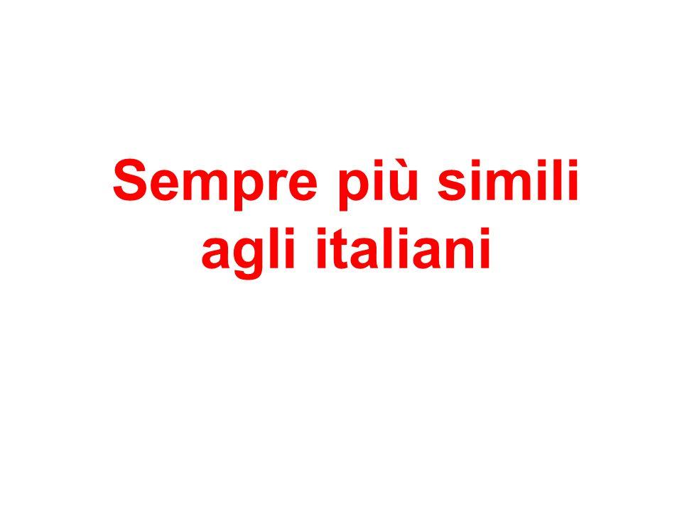 Sempre più simili agli italiani