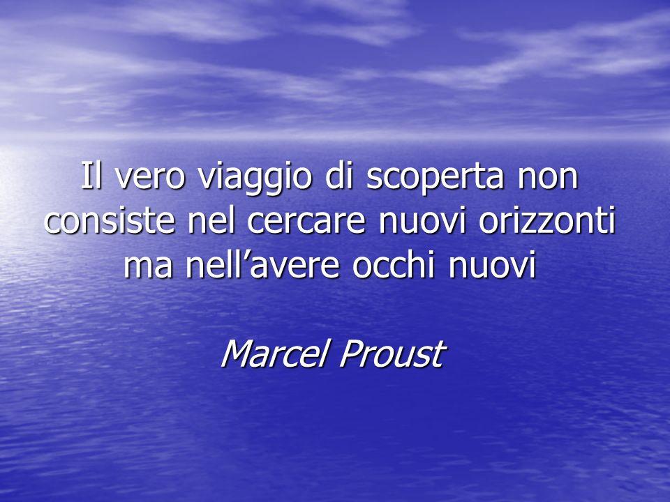 Il vero viaggio di scoperta non consiste nel cercare nuovi orizzonti ma nell'avere occhi nuovi Marcel Proust