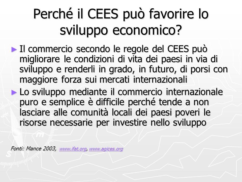 Perché il CEES può favorire lo sviluppo economico.