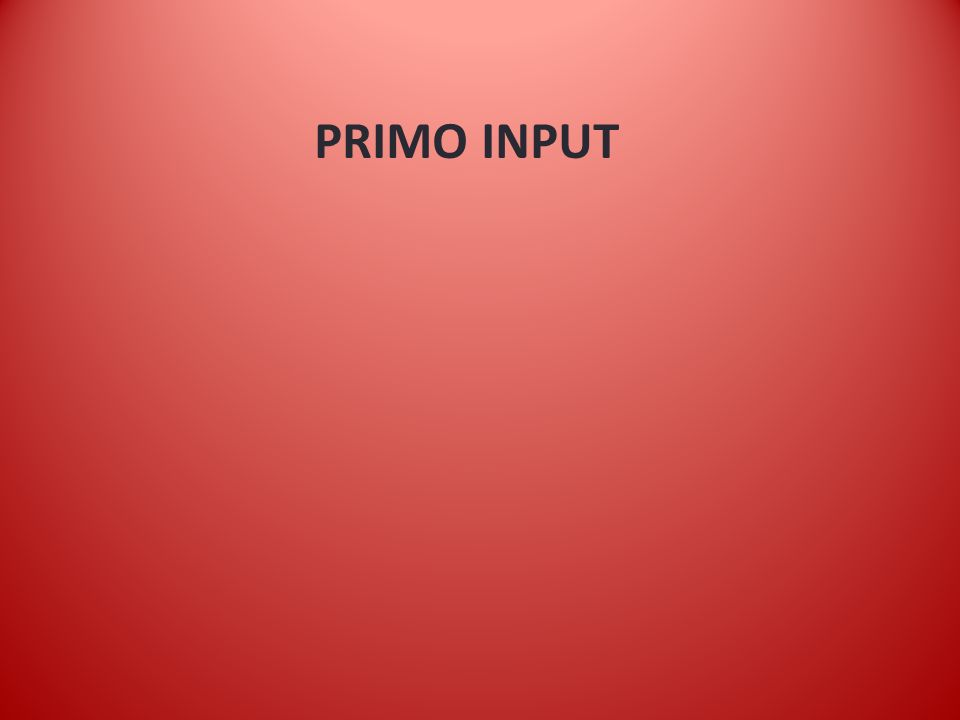 PRIMO INPUT