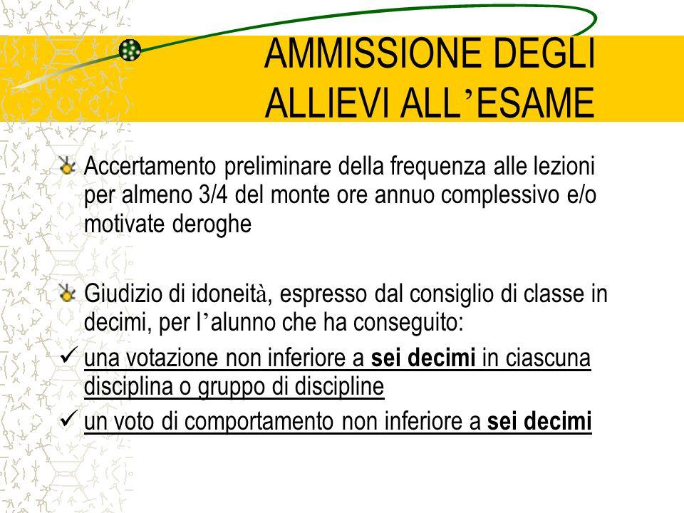 Commissione d ' esame Costituita da: Un presidente (esterno) Tutti i docenti della classe, compreso sostegno, tranne il docente di Religione Cattolica