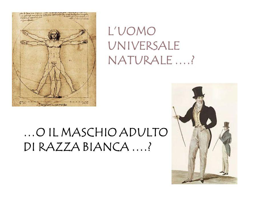 L'UOMO UNIVERSALE NATURALE ….? …O IL MASCHIO ADULTO DI RAZZA BIANCA ….?