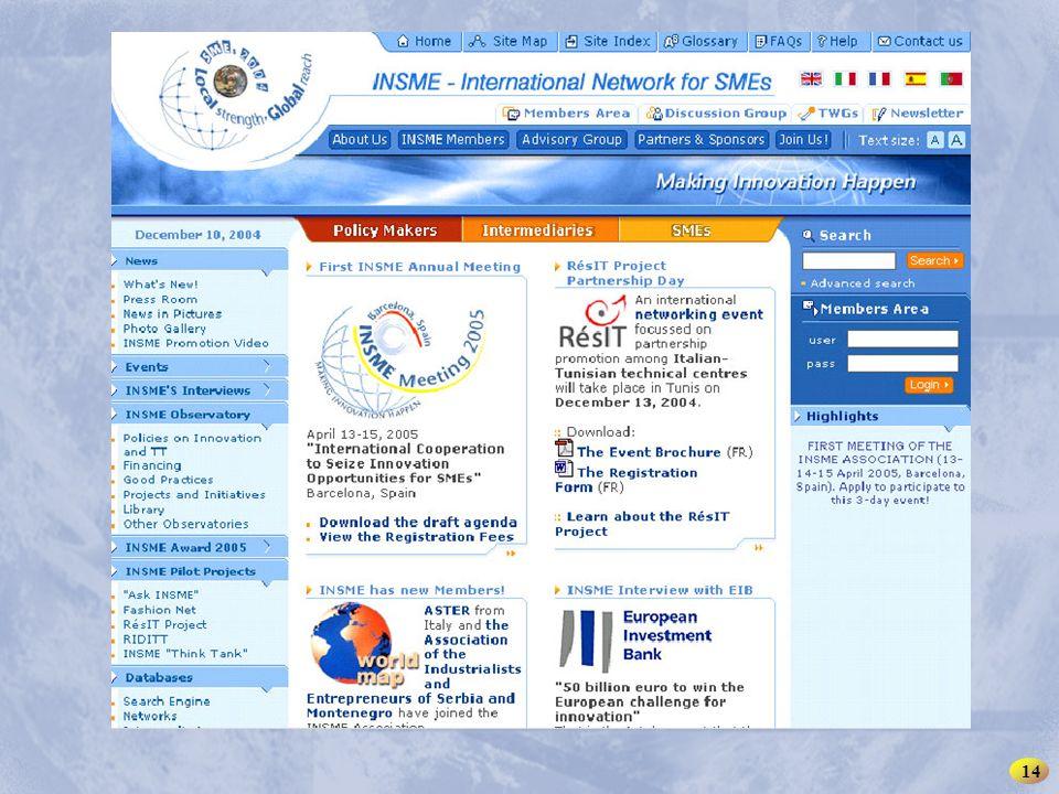 INSME – Rete Internazionale per le PMI 14