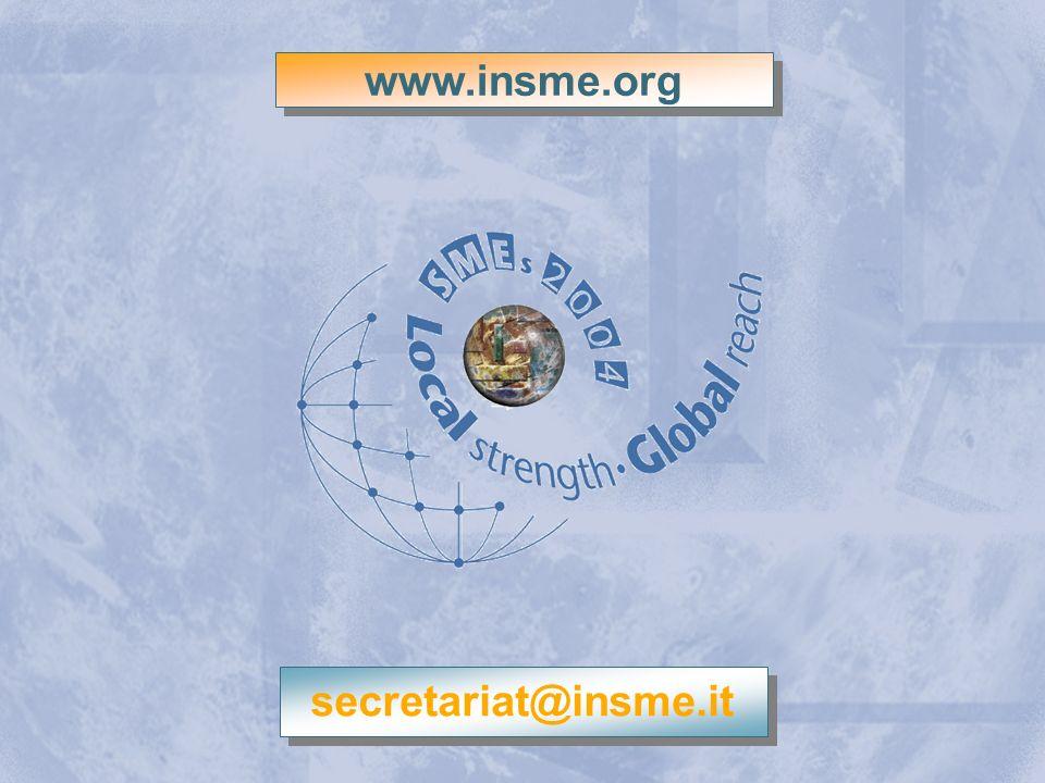 INSME – Rete Internazionale per le PMI www.insme.org secretariat@insme.it