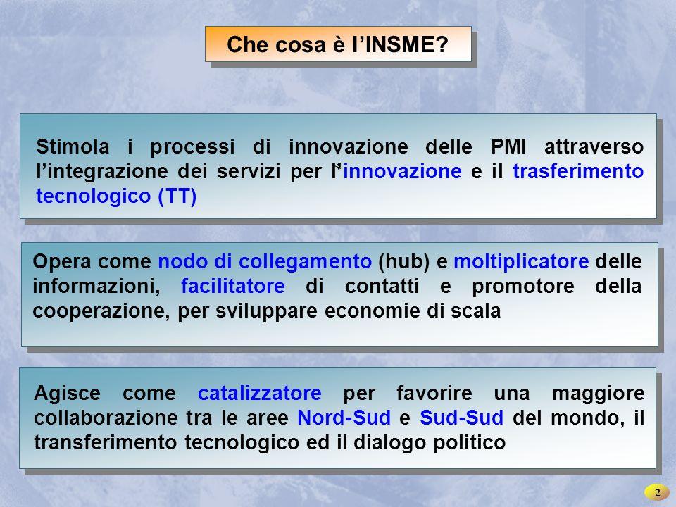 INSME – Rete Internazionale per le PMI < < Che cosa è l'INSME.