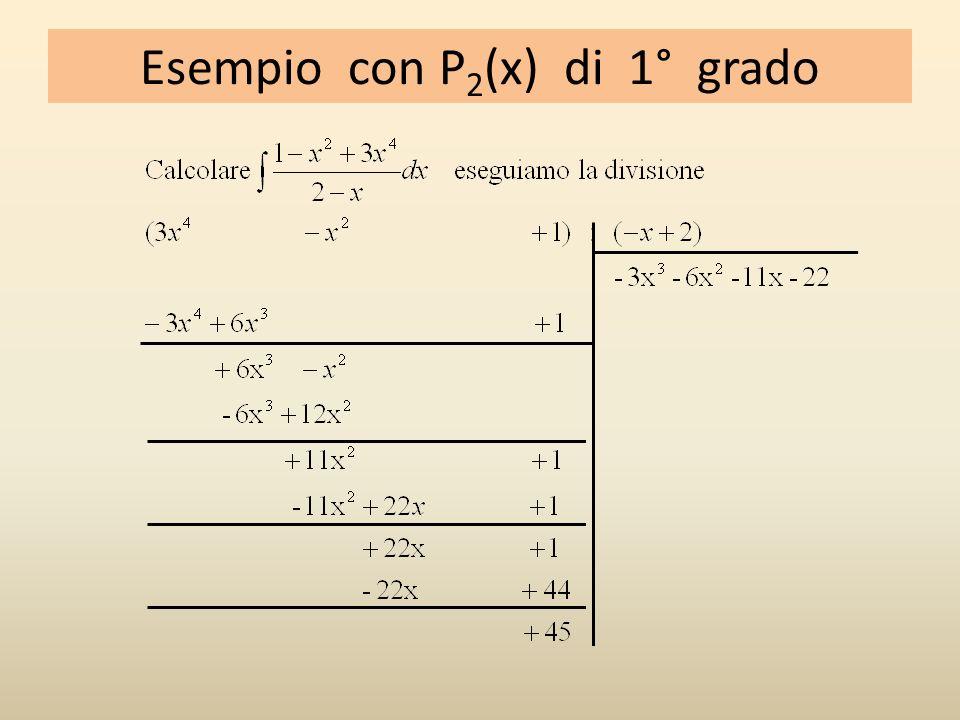Esempio con P 2 (x) di 1° grado