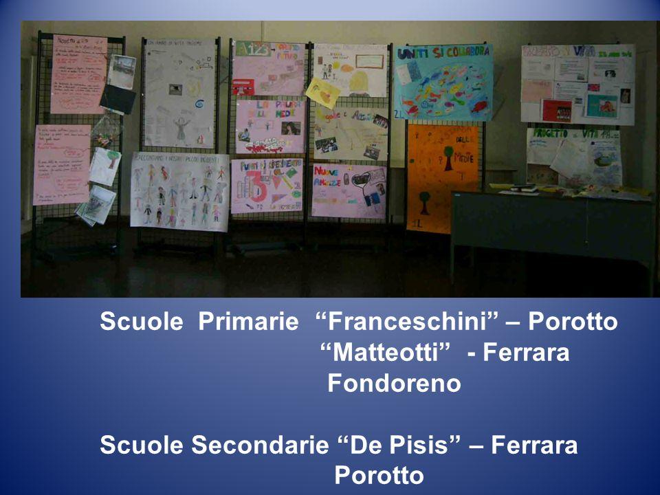 Scuole Primarie Franceschini – Porotto Matteotti - Ferrara Fondoreno Scuole Secondarie De Pisis – Ferrara Porotto