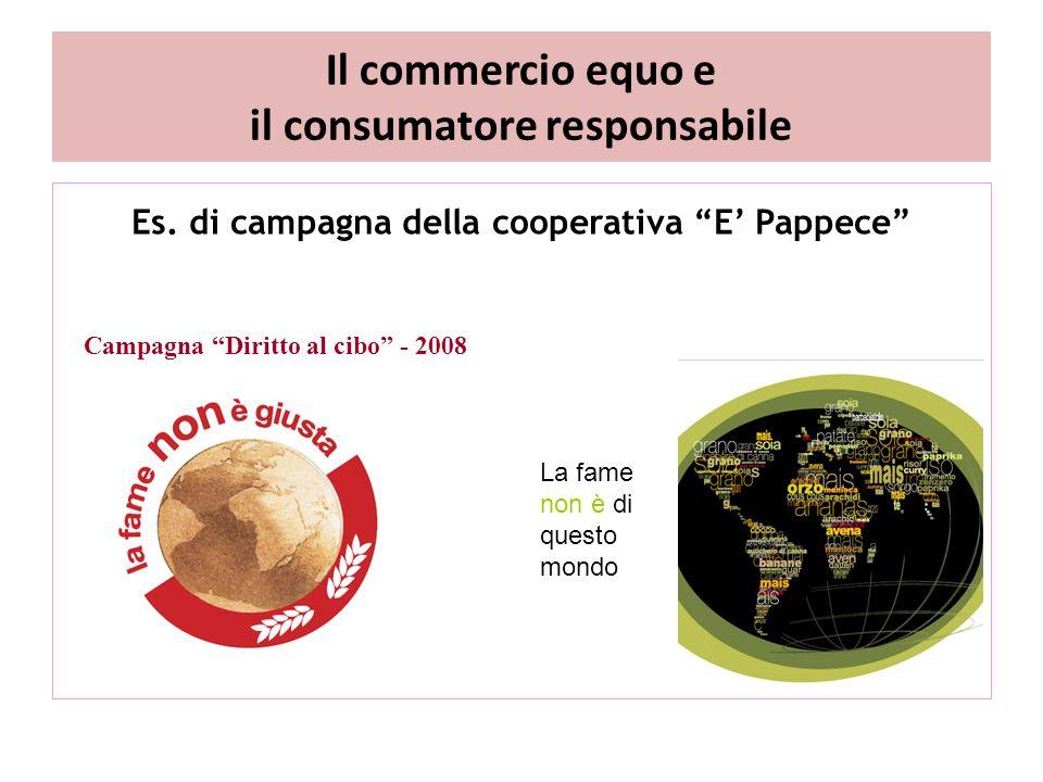 Il commercio equo e il consumatore responsabile Es.