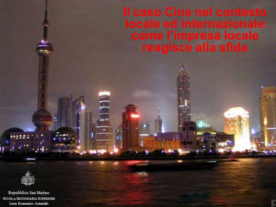 Il caso Cina nel contesto locale ed internazionale: come l'impresa locale reagisce alla sfida Repubblica San Marino S CUOLA S ECONDARIA S UPERIORE Liceo Economico Aziendale