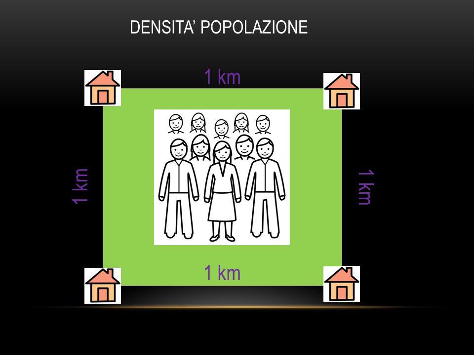 1 km DENSITA' POPOLAZIONE