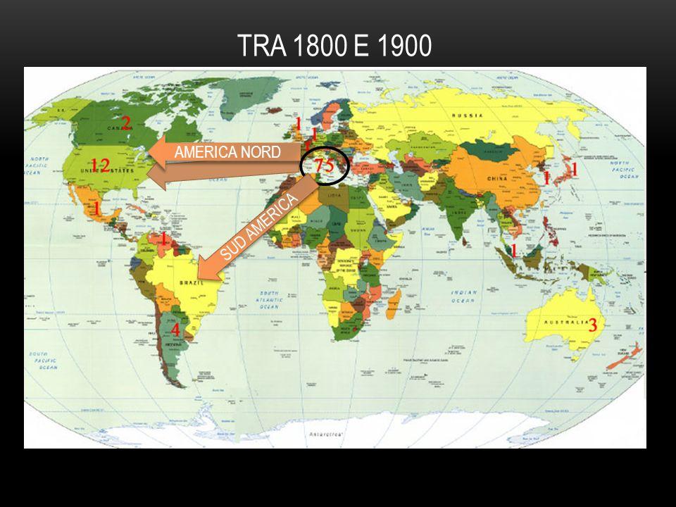 AMERICA NORD SUD AMERICA TRA 1800 E 1900