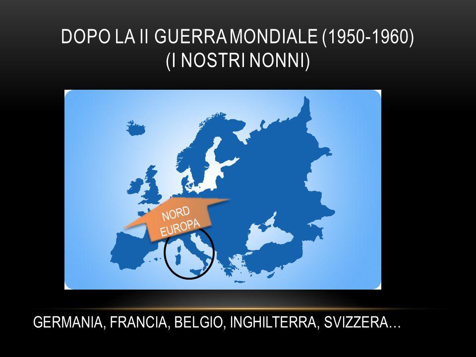 DOPO LA II GUERRA MONDIALE (1950-1960) (I NOSTRI NONNI) NORD EUROPA NORD EUROPA GERMANIA, FRANCIA, BELGIO, INGHILTERRA, SVIZZERA…