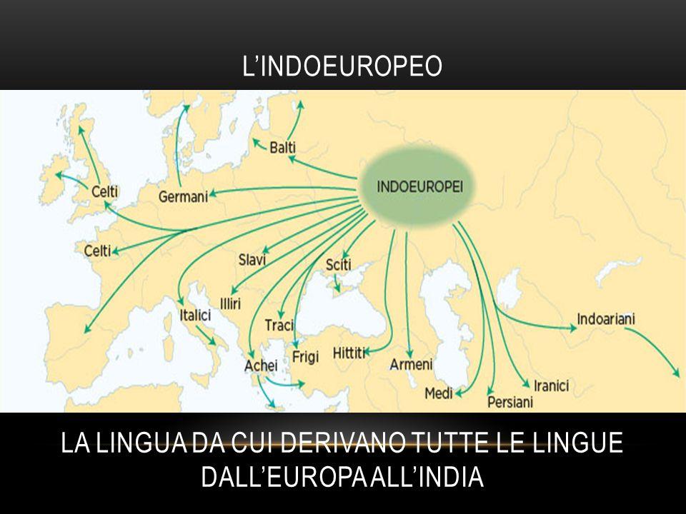 L'INDOEUROPEO LA LINGUA DA CUI DERIVANO TUTTE LE LINGUE DALL'EUROPA ALL'INDIA